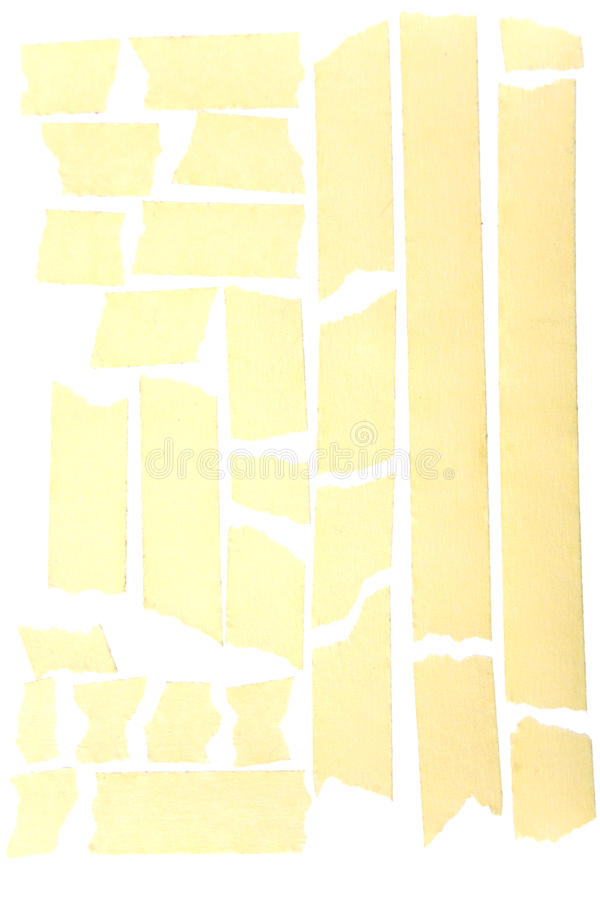 Masking tape strips. Old grunge masking tape strips stock photo