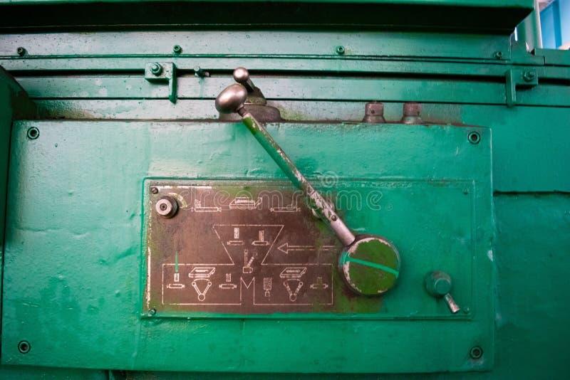 Maskinkontrollspak Gammal sovjetisk design royaltyfri fotografi