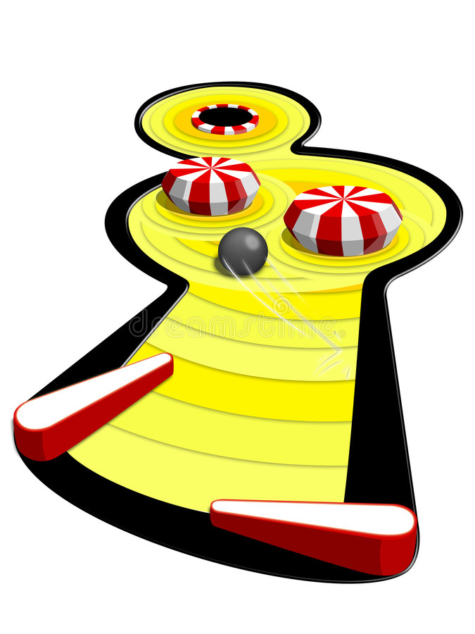 maskinpinball royaltyfri illustrationer