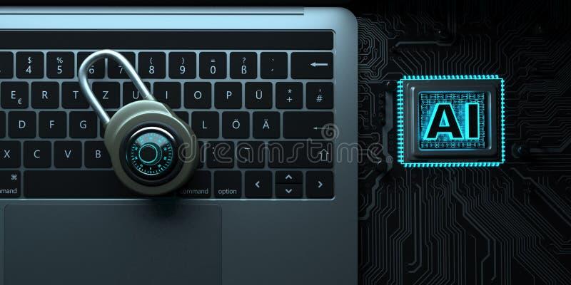 MaskinvarukrypteringDLock processor arkivbild