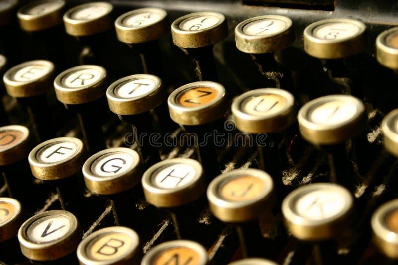 maskinwriting arkivbild