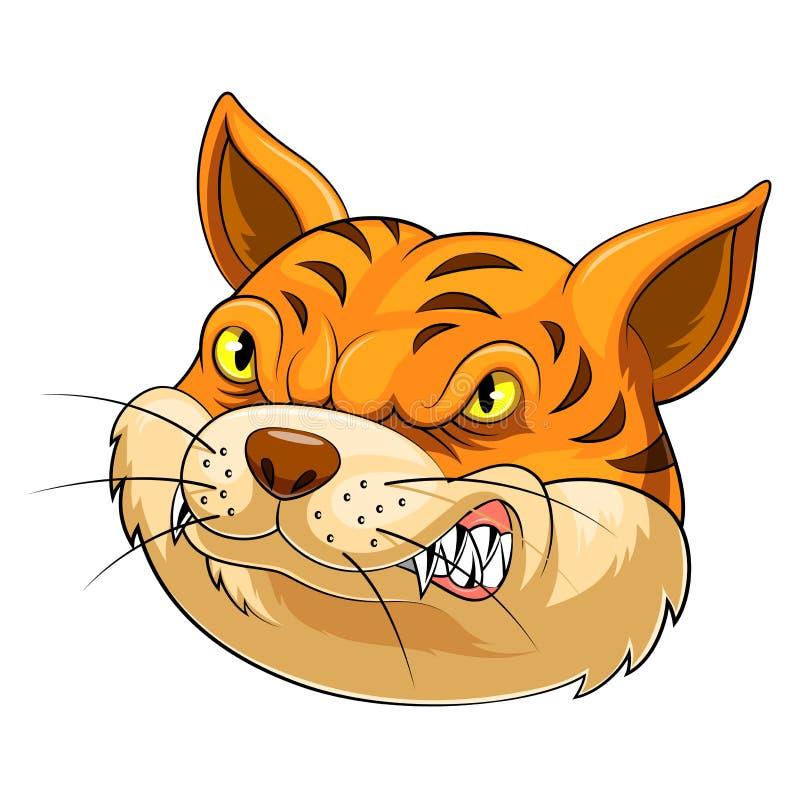 Maskothuvud av en katt vektor illustrationer