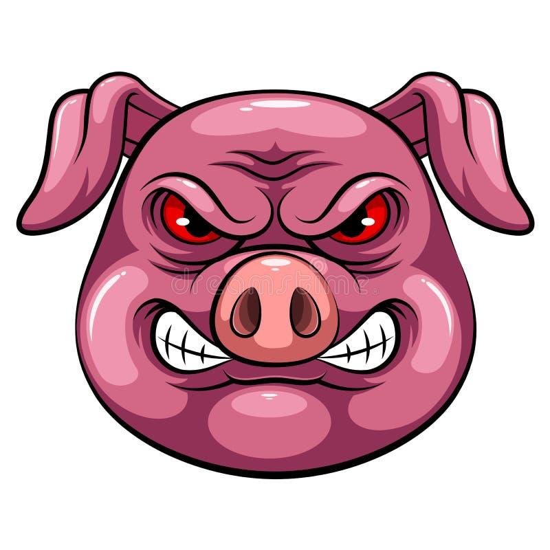 Maskothuvud av ett svin stock illustrationer