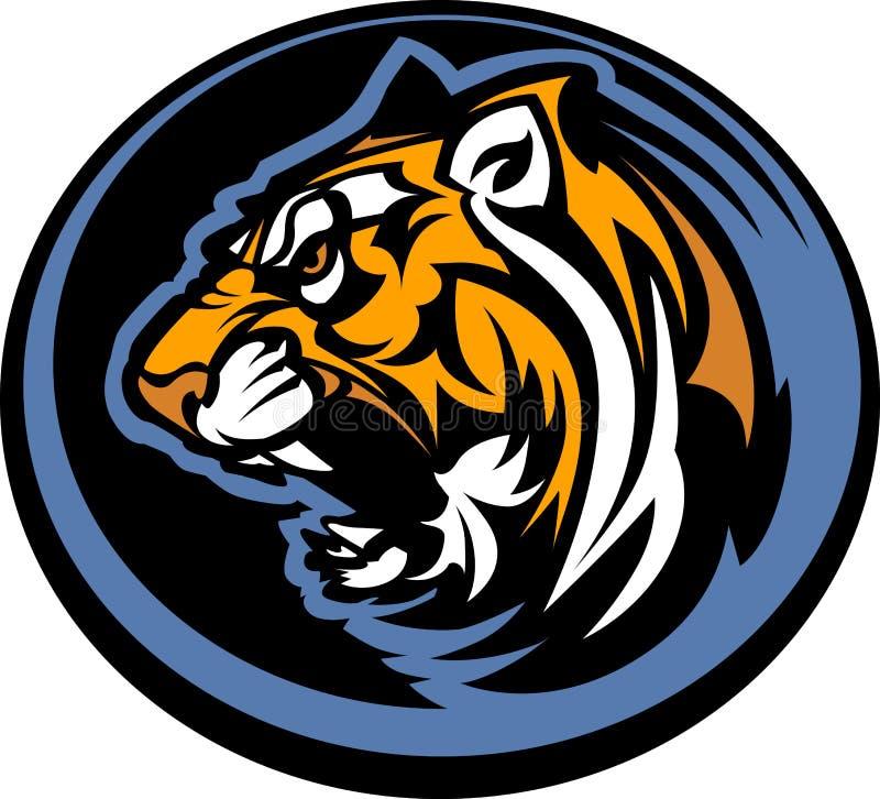 maskotka graficzny tygrys ilustracja wektor