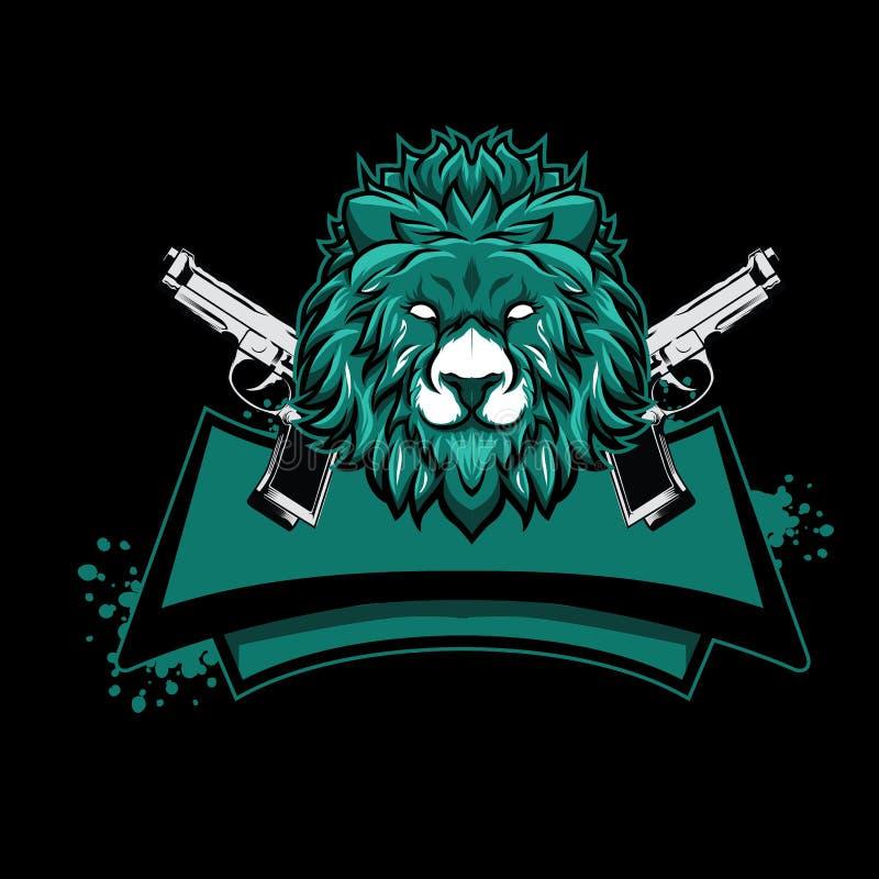 Maskotka hazardu esport logo pojęcie z zwierzęcą ilustracją ilustracji