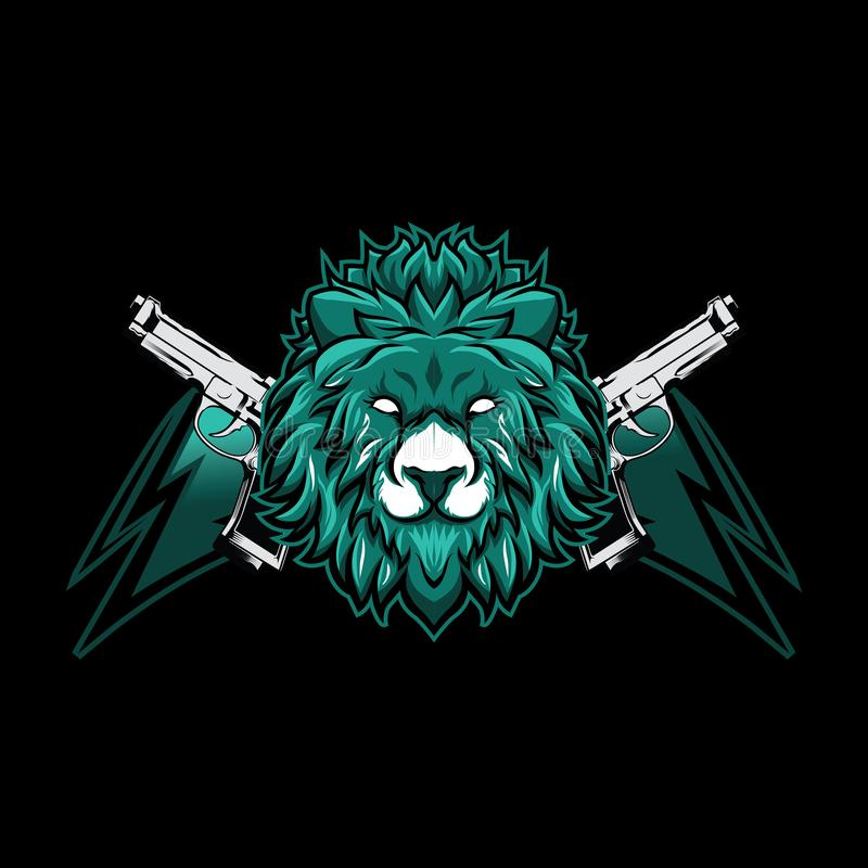 Maskotka hazardu esport logo pojęcie z zwierzęcą ilustracją royalty ilustracja