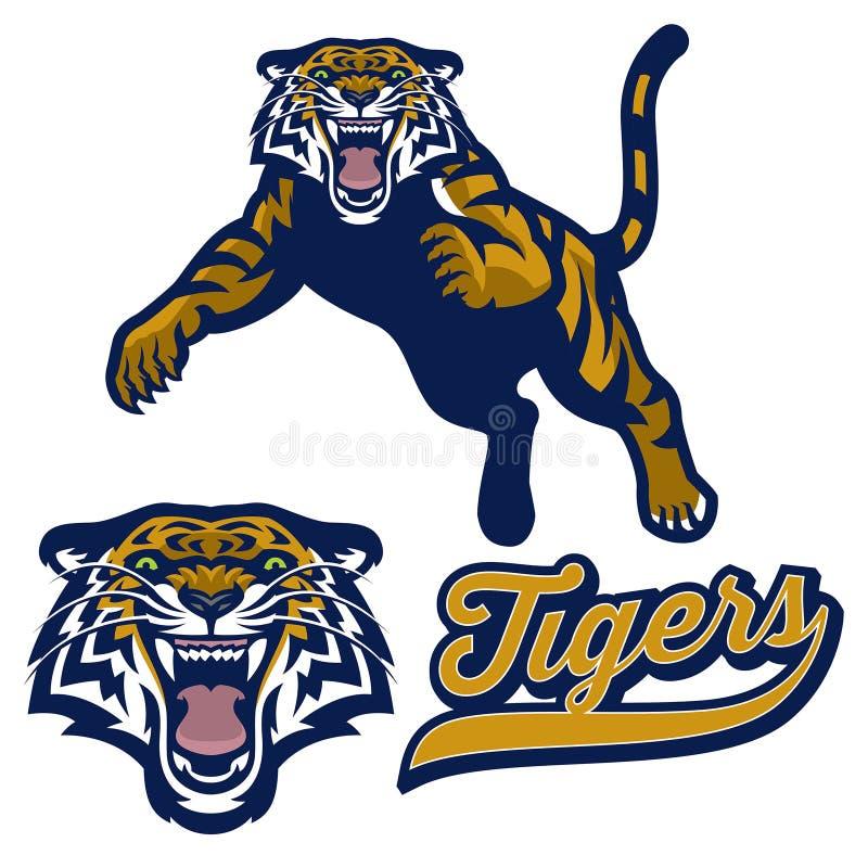 Maskotki tygrysi pounching w secie ilustracji