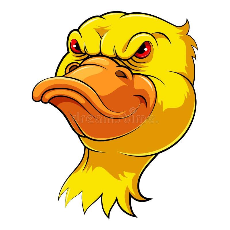 Maskottchen-Kopf einer Ente lizenzfreie abbildung