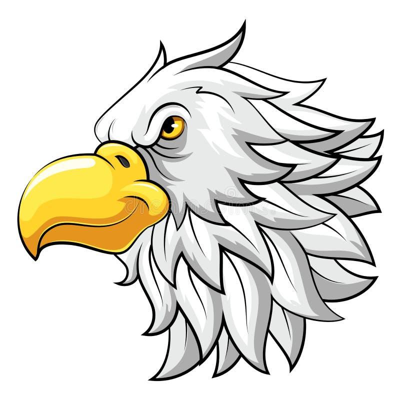 Maskottchen-Kopf eines Falken lizenzfreie abbildung