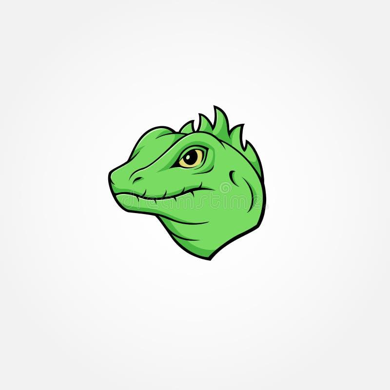 Maskottchen-Logoentwurf der Eidechse lokalisierte bunter vektor abbildung