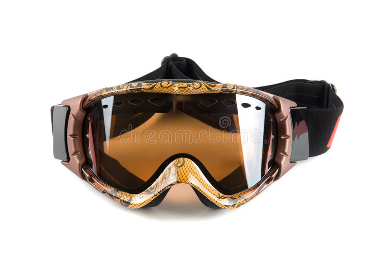 maskowa narciarka obraz royalty free