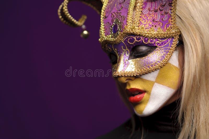 maskowa profilowa kobieta zdjęcia stock