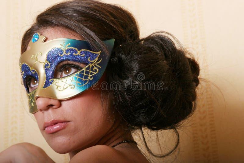 maskowa tajemnicza kobieta obraz stock
