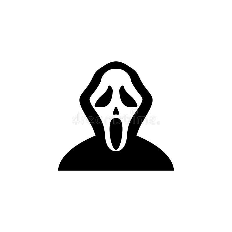 maskowa wrzask ikona Element duchów elementy ilustracyjni Cienieje kreskową ilustrację dla strona internetowa projekta i rozwoju, royalty ilustracja
