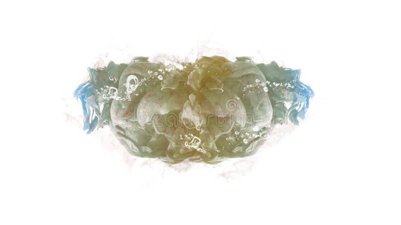 Maskowego atrament kropli wodnego koloru tła abstrakcjonistycznego ruchu kreatywnie spokój ilustracja wektor
