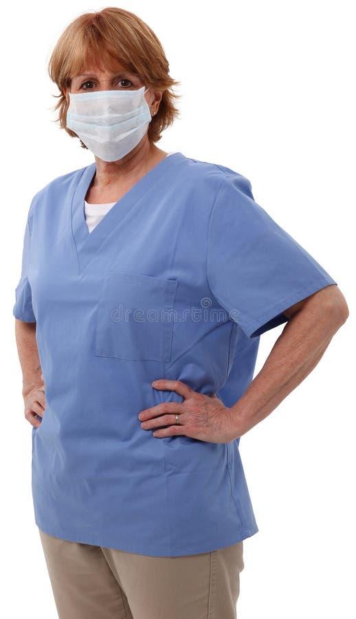 maskowej pielęgniarki stary chirurgicznie zdjęcie stock