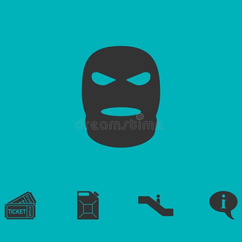 Maskowy ikony mieszkanie ilustracji