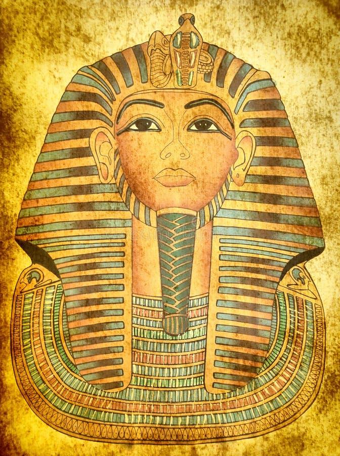 maskowy królewiątko papirus tutankhamen obraz stock
