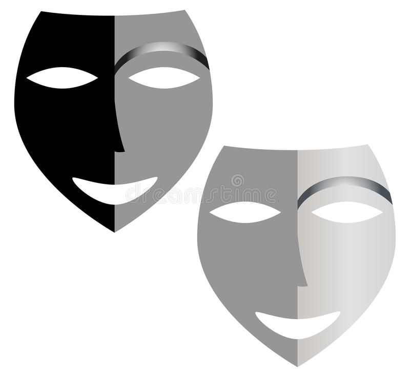 Masks. Illustration work of two masks stock illustration