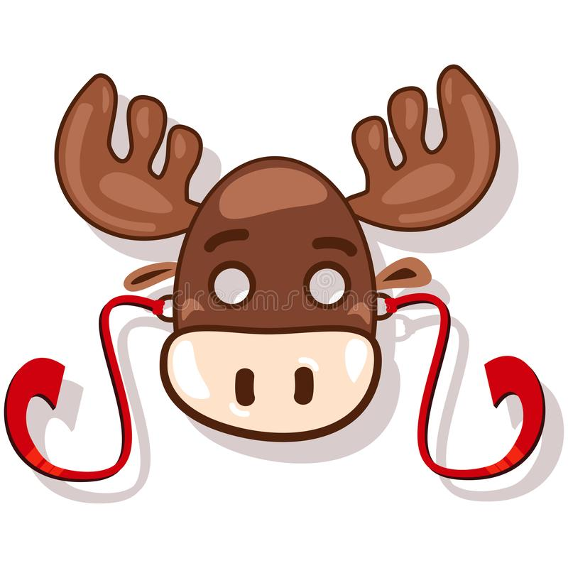 Masks animals for kids party for kids party. Reindeer. Vector icon stock image