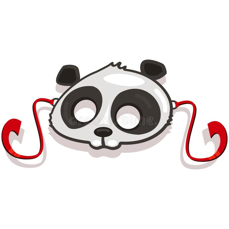 Masks animals for kids party. Panda. Vector icon stock photography