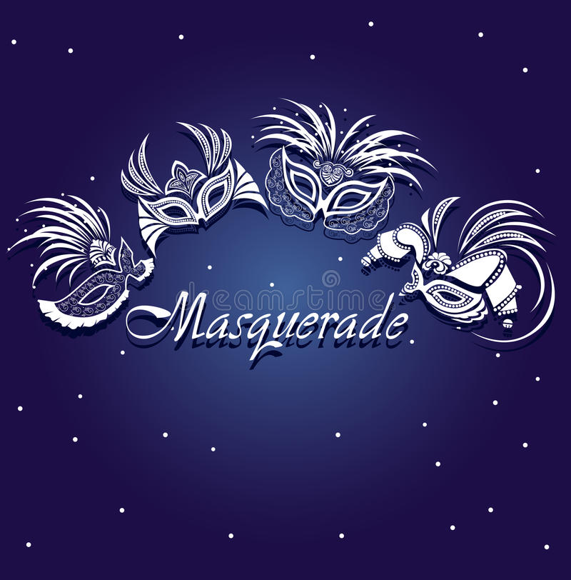 Carnival mask delicate openwork card royalty free stock photography