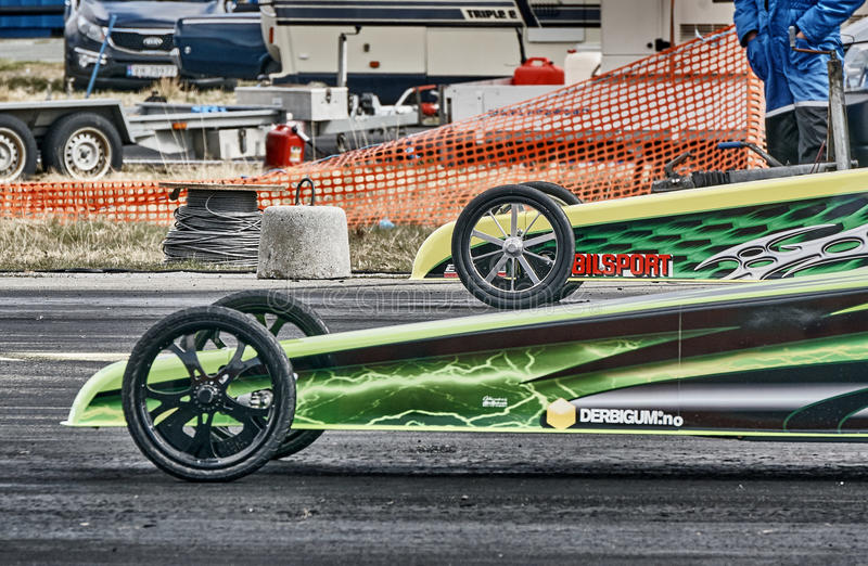 Masks and fronts wheel racing cars stock photo