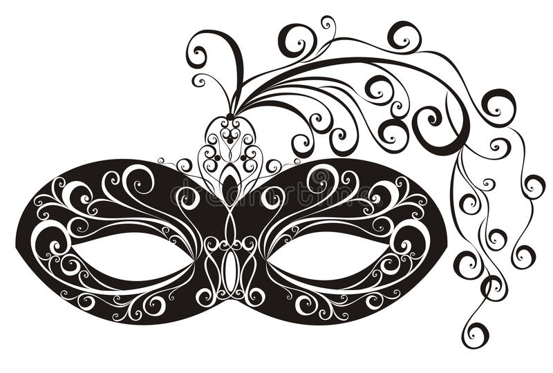 Masks for a masquerade. Vector illustration stock images