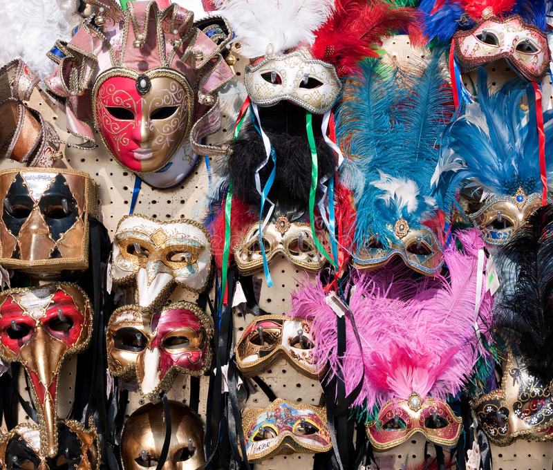 Masks For Sale - Venice Carnival 2011 Editorial Stock Photo