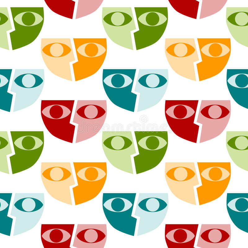 Masks seamless background pattern royalty free illustration