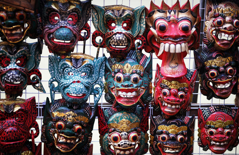 Masks in Thailand stock photos