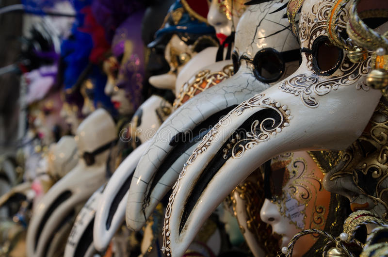 Masks in Venice, Italy. stock photos