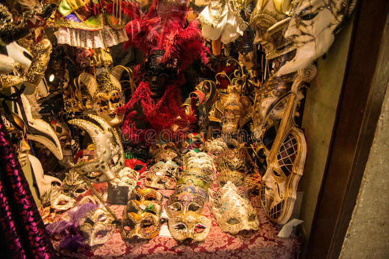 Masks. Venice is one of the most famous cities in Italy. It`s always full of tourists. The symbol of the city is the mask. There are numerous shops selling royalty free stock images