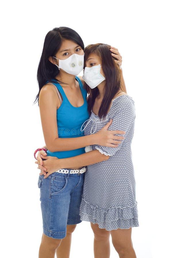 maskuje ochronne kobiety zdjęcie royalty free