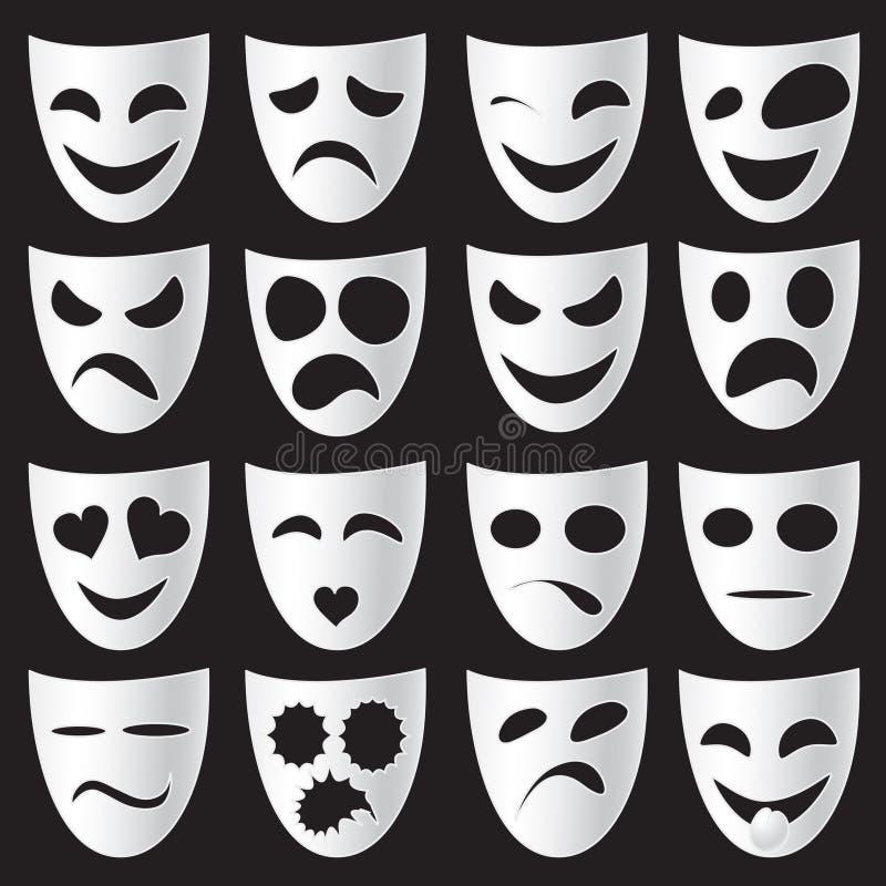 maskuje theatre ilustracji