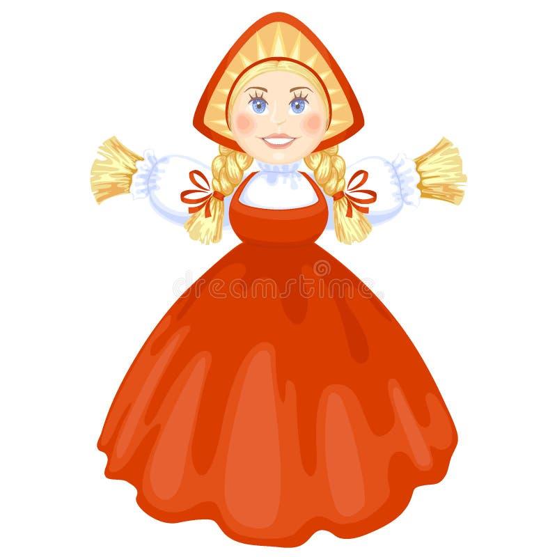 Download Maslenitsa stock vector. Illustration of dress, homemade - 28418538