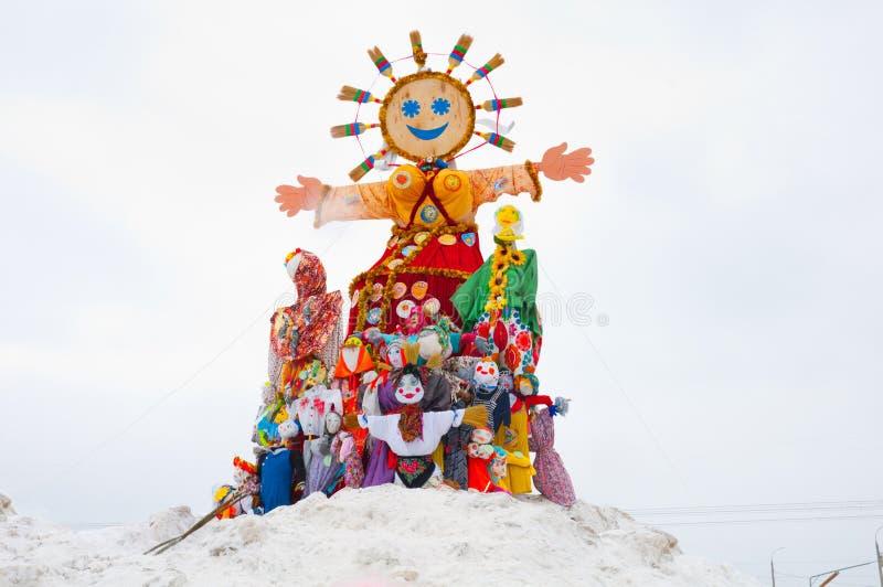Maslenitsa - feriado religioso do russo fotos de stock royalty free