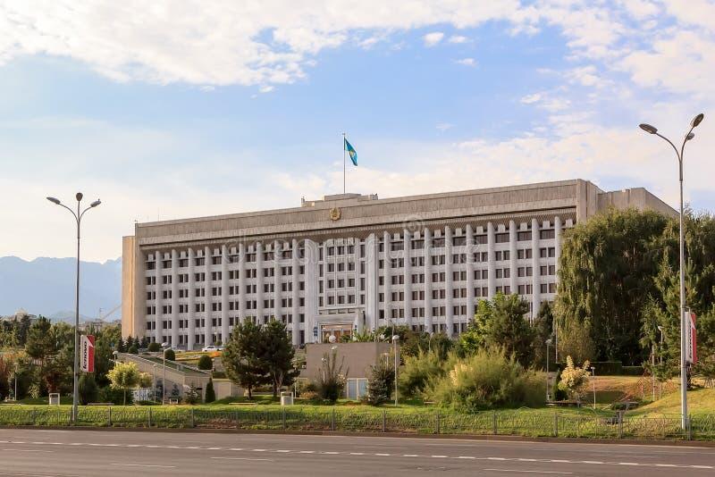 Maslihat Almaty Almaty Kasakhstan royaltyfri bild