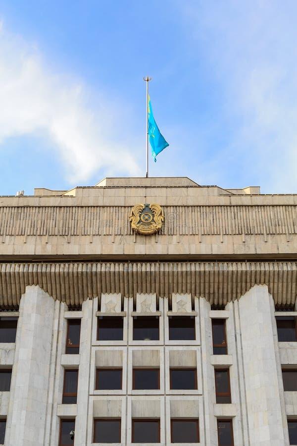 Maslihat Almaty Almaty Kasakhstan royaltyfria foton