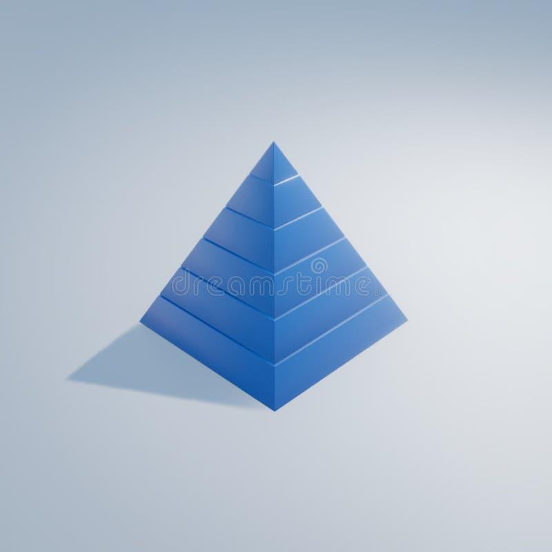 maslow& x27; s behöver den framförda illustrationen för hierarkin 3d royaltyfri illustrationer