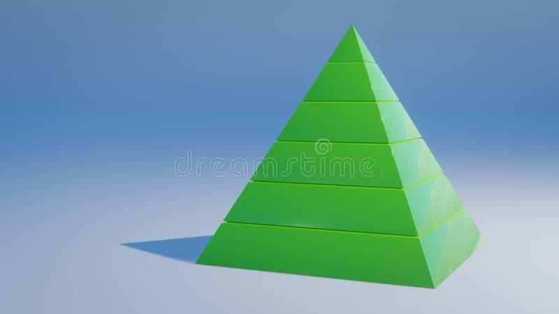 maslow& x27; s benötigt die übertragene Illustration der Hierarchie 3d stock abbildung