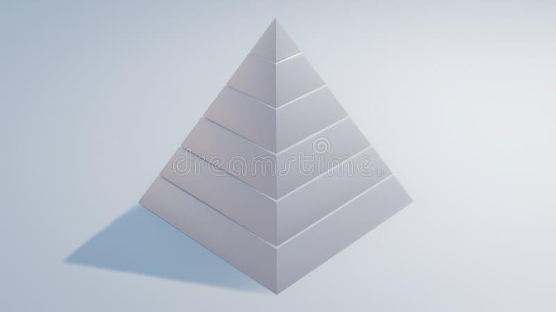 maslow& x27; s vergt teruggegeven hiërarchie 3d illustratie vector illustratie
