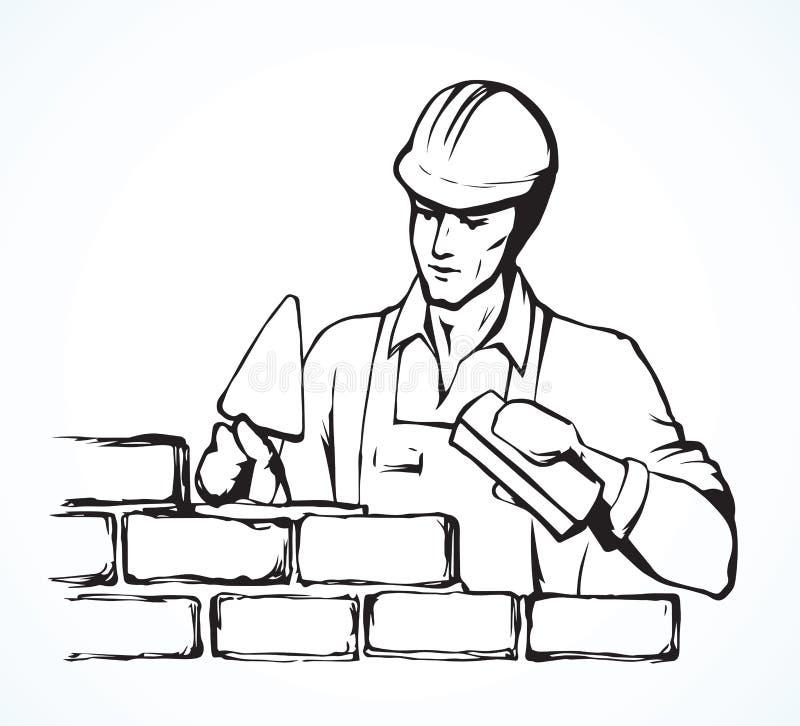 mason Desenho do vetor ilustração stock