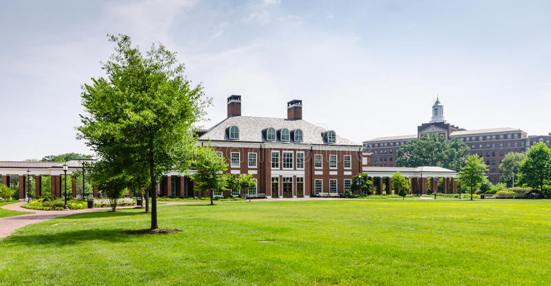 Mason Hall - Johns Hopkins University - Baltimore, MD. The Office of Undergraduate Admissions is housed in Mason Hall at Johns Hopkins University, an American stock photo