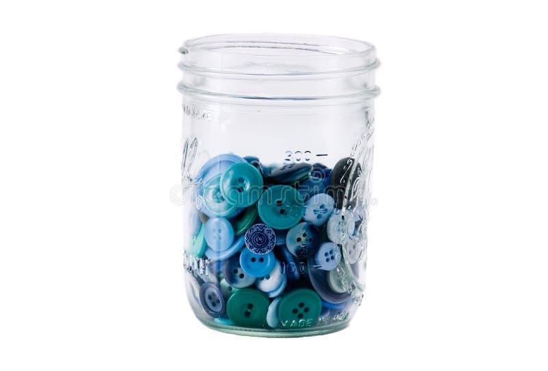 Mason Jar Full of Buttons royalty free stock photo