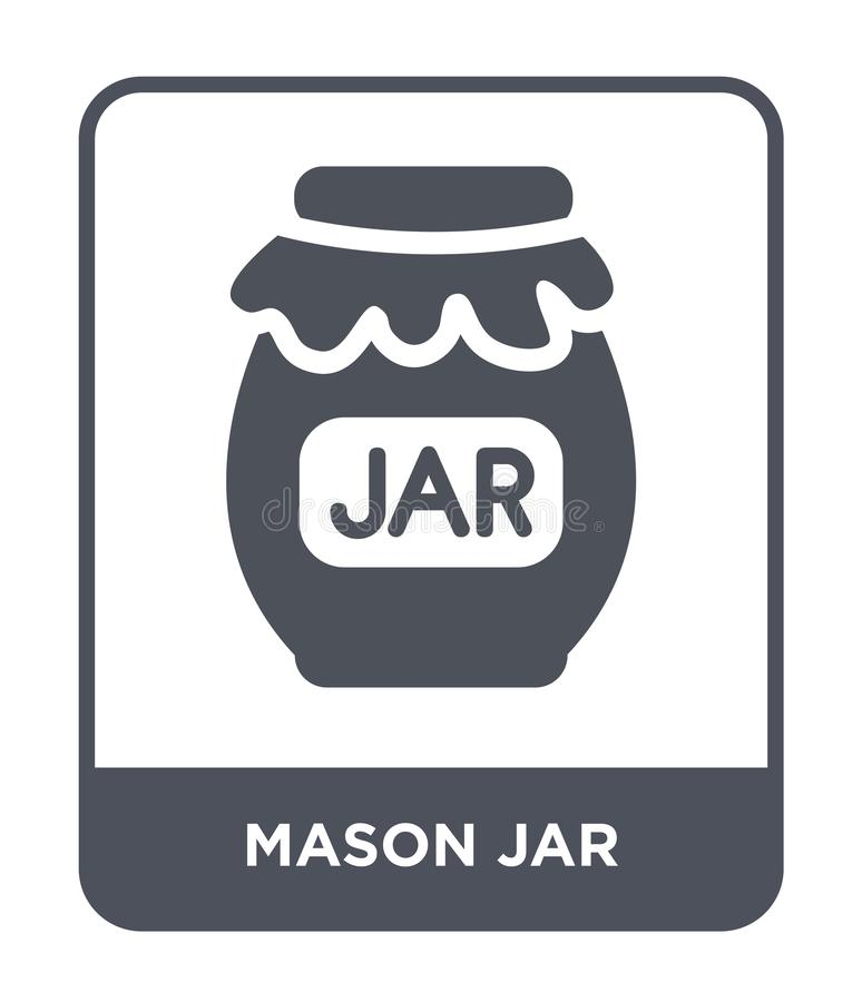 mason jar icon in trendy design style. mason jar icon isolated on white background. mason jar vector icon simple and modern flat royalty free illustration
