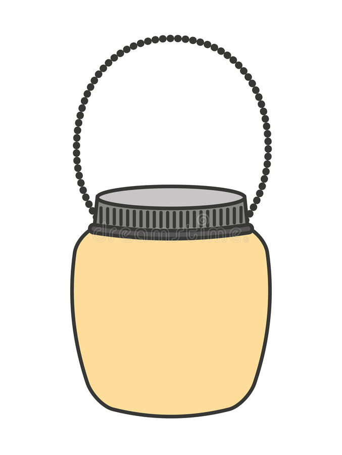 mason jar isolated icon design stock illustration