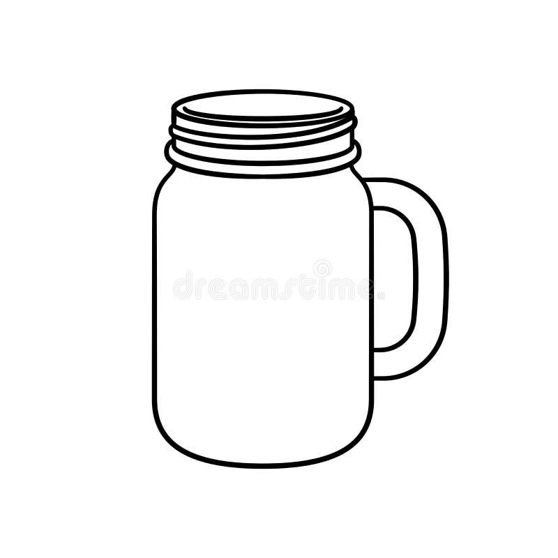 Free Mason Jar Mug Line Art Vector Outline Illustration Design Royalty Free Stock Photos - 199847088