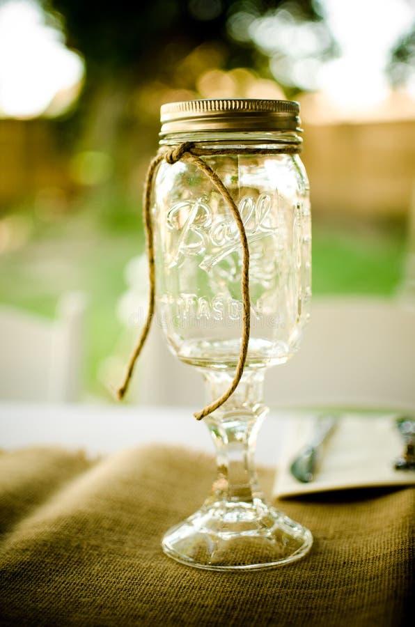 Mason Jar Wine Glass fotografia stock