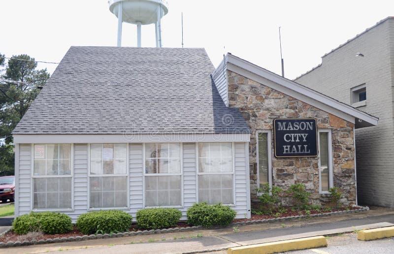 Mason Tennessee City Hall, Fayette County, TN stockfotos